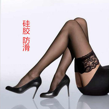 Women stockings Girls Female sexy stocking hose appeal to fix the leg show thin lace sexy stockings hose