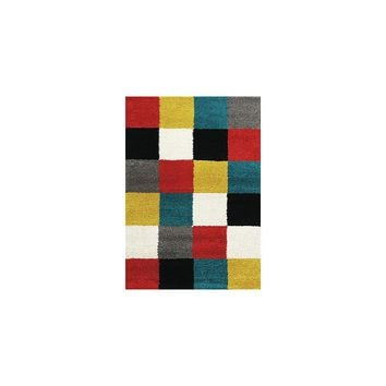 Kalora Maroq Neon Checkers Area Rug