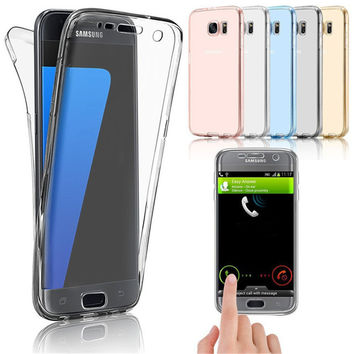 For Samsung Galaxy A3 A5 A7 J3 J5 J7 2016 G530 S4 S5 S6 S7 Edge Plus Note 5 4 3 Case Soft TPU Full Protective Clear Cover Cases