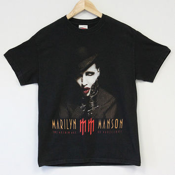 Marilyn Manson The Golden Age of Grotesque Concert T-Shirt Weasel Vintage Industrial metal Gothic T-Shirt Size Medium