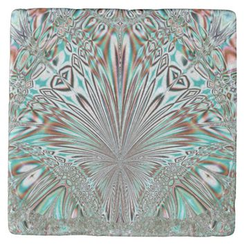 abstract crystal design stone coaster