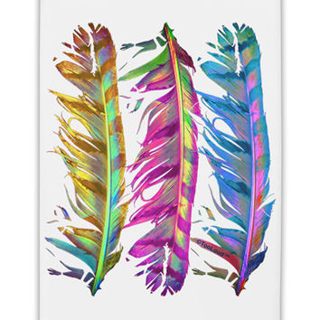 "Magic Feathers Fridge Magnet 2""x3"" Portrait"