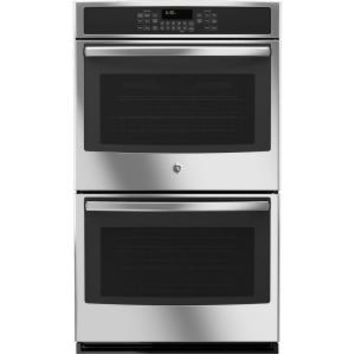 GE, 30 in. Double Electric Wall Oven Self-Cleaning with Convection in Stainless Steel, JT5500SFSS at The Home Depot - Mobile