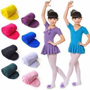 2 Pairs Kids Girls Baby Soft Pantyhose Ballet Dance Socks Velvet Girl's Pantyhose Children Socks Dance Socks Stockings Solid Breathable Socks