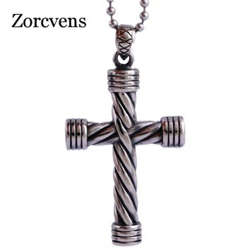 ZORCVENS 2018 New Fashion Punk Men s Silver Black Color 316L Sta d3278e9bb65f