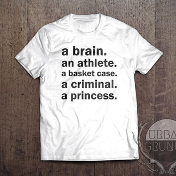 the athlete the criminal the princess the brain the basketcase--funny tshirt-tumblr tshirt-fandom-jersey-athlete-princess-criminal tshirt