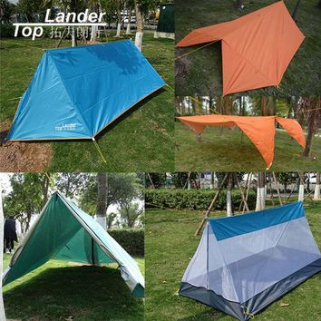 Folding Mosquito Net Tent Camping Outdoor Double Layer Ultralight Tarp Single Tents Tarp Sun Bivvy Shelter Multi function Tents