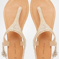 New Look Fallen Embellished Flat Sandals