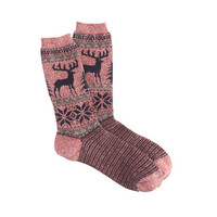 J.Crew Mens Anonymous Ism Deer Socks