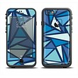 The Large Vector Shards of Blue Apple iPhone 6 LifeProof Fre Case Skin Set