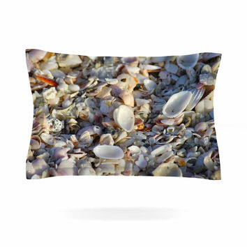 "Philip Brown ""Seashells On The Beach"" Coral Nature Pillow Sham"