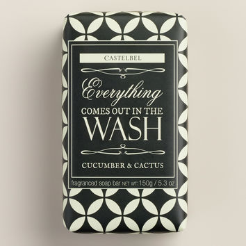 Castelbel Black & White Cucumber & Cactus Bar Soap