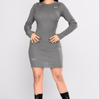 Part Of Me Dress - Heather Grey
