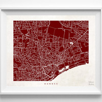 Dundee, Scotland, United Kingdom, Print, Map, Poster, State, City, Street Map, Art, Decor, Town, Illustration, Room, Wall Art, Customize