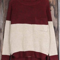 Cupshe Double the Fun Contrast Color Sweater