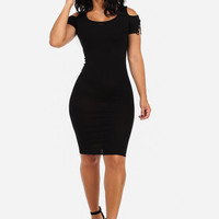 Open Shoulder Bodycon Dress