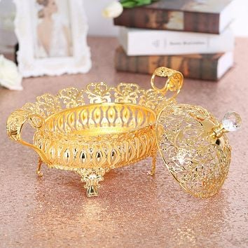 Dried Fruit Plate with Lid, High-Grade Nut Box, Transparent Creative Living Room, Snack, Dried Fruit