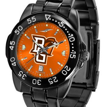 Bowling Green Falcons Mens Watch Fantom Gunmetal Finish Orange Dial