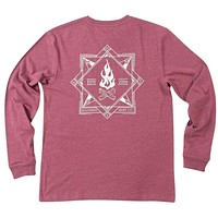 Elemental Compass Long Sleeve Tee Shirt in Oxen Red by The Southern Shirt Co.
