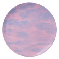 Pink Clouds Dinner Plate