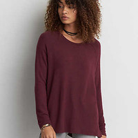 AEO Soft & Sexy Plush Jegging T-Shirt , Burgundy