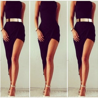 Women Bodycon Bandage Clubwear Swallow Long Dress