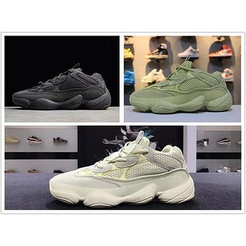 Hot Adidas Yeezy Boost Runner 500 Blush Desert Rat Kanye West 500 yung 1 Wave Runner 500 700 350 Running designer shoes yung-1 Athletic M‮yeezy‬a Sneakers