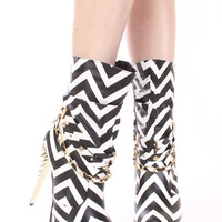 Mckensie Pretty Girls Rock Stud Slouch Boots Chevron
