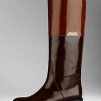 Patent Leather Equestrian Boots