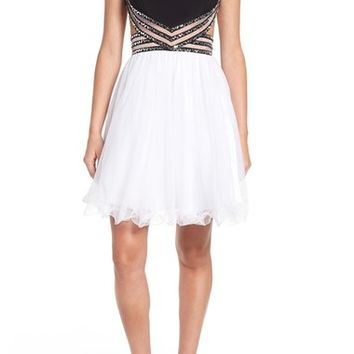 Blondie Nites Embellished Illusion Party Dress | Nordstrom