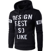 Sports Casual Winter Hot Sale Men's Fashion Alphabet Print Hoodies [10669406275]