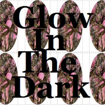 20 pc GLOW In THE DARK Pink Camo Pink Camouflage Realtree Camo Nail Wraps Full Decals Tips Nail Art Nail Decals #cg501na