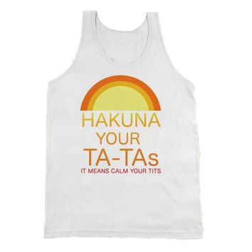 2017 Summer Harajuku Hakuna Your Ta-Tas Tank Top Funny Lion King Vest Printing Letter Female Tank Top Vest