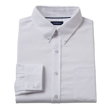 Croft & Barrow Striped Easy-Care Oxford Shirt - Big &