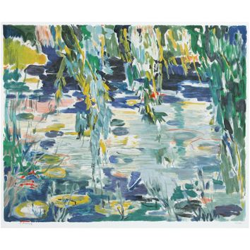 Water Lilies by Abraham Binder, Wall Art Size: 26.5H x 32W