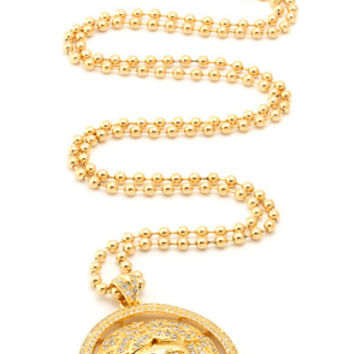 King Ice CZ Medusa Head Necklace