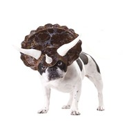 Triceratops Dog Costume (Medium,Brown)