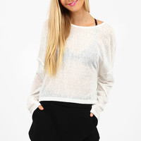 Staple The Label Contrast Sweater White