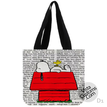 Snoopy New Hot, handmade bag, canvas bag, tote bag