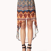 Geo Print High-Low Skirt | FOREVER 21 - 2037808329