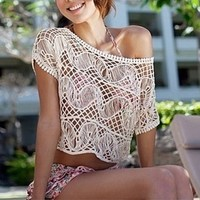 Crochet Top/ Swim Suit Cover Up