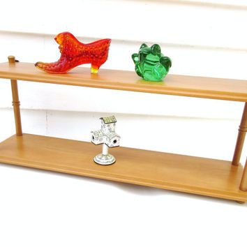 Vintage Wood Shelf / Table Top Wood Display / Wall Mount Storage / 2 Tier Stand