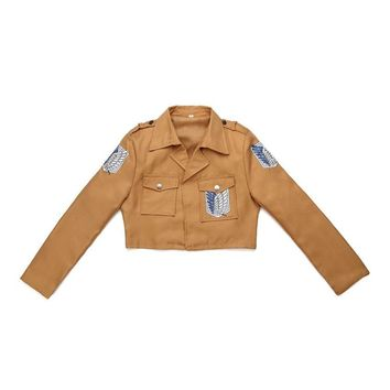 Cool Attack on Titan  Jacket Coat no  jacket Legion Cosplay Costumes Jacket Coat High Quality Eren Levi NEW AT_90_11