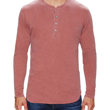 Solid Cotton Henley
