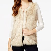 BCX Juniors' Faux-Fur Vest