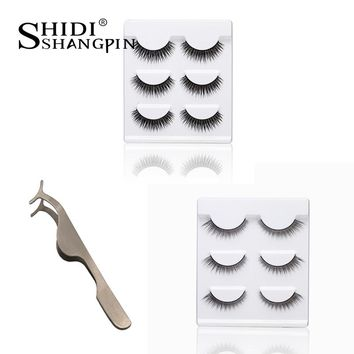 6 pairs false eyelashes Hand Made Natural Long fake eyelash eye lashes Makeup Maquiagem Beauty Tool Free shipping