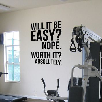 Absolutely fitness motivation Wall Quotes Sticker