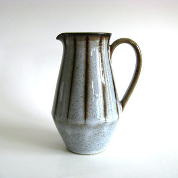 Mod Pitcher Denby Studio Grey Brown Striped Mid by pillowsophi
