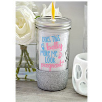 Pregnancy Tumbler (Glass)