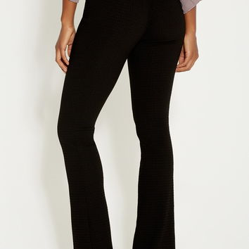 the smart textured bootcut pant